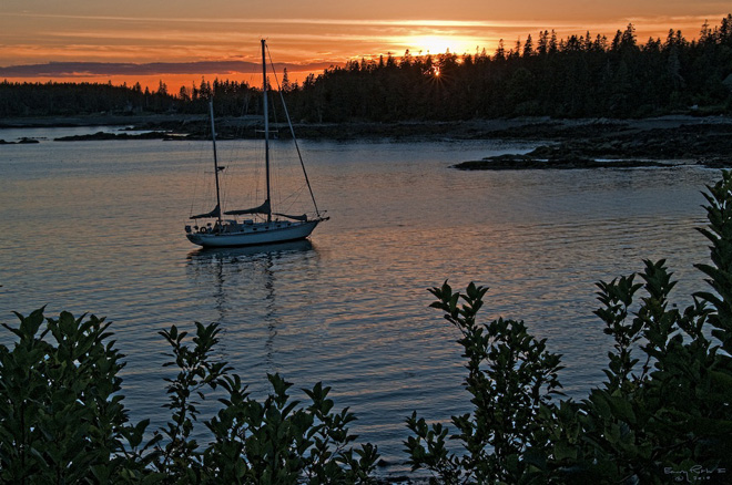 Bass Harbor at Dusk