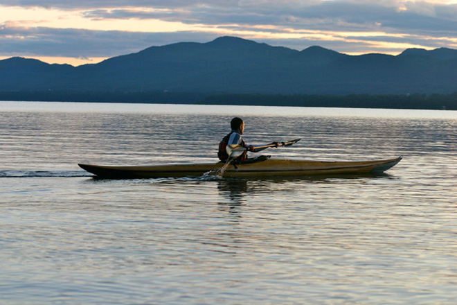 Kayaking on Button Bay in Lake Champlain, Vermont