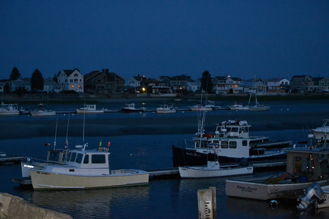 Evening in Wells, Harbor, ME