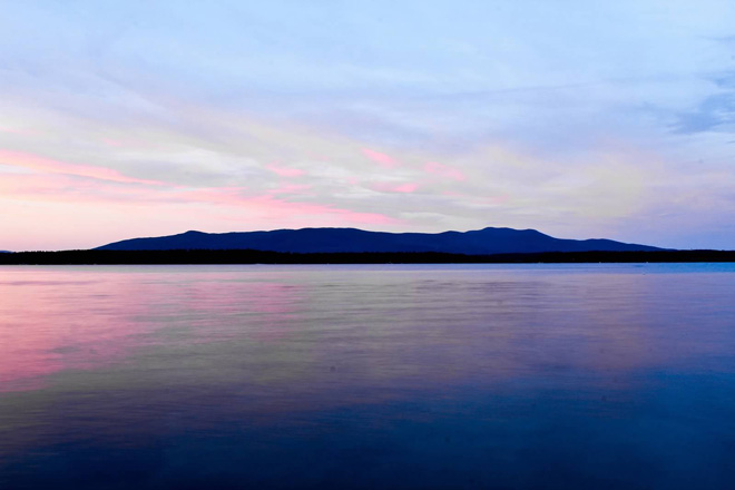 Just Before The Sun Rises, Lake Winnepasaukee, New Hampshire