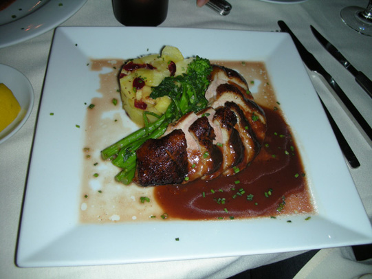 The Duck Breast served at Mantra
