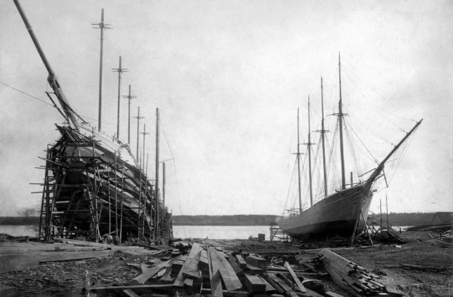 The Percy and Small Shipyard - 1902