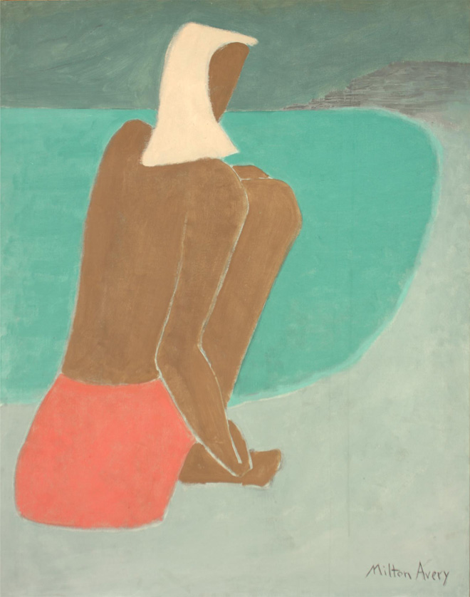 March on the Beach, 1947 by Milton Avery (1885–1965)