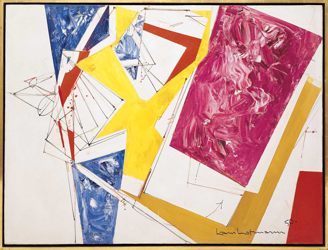 Push and Pull III, 1950, by Hans Hofmann (1880–1966)