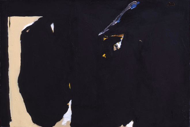 Elegy with Opening, 1984, by Robert Motherwell (1915–1991)