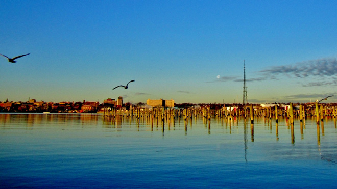 """Moon Over New Bedford"""